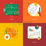 52588686-set-of-flat-design-illustration-concepts-for-algebra-geometry-calculus-statistics-education-and-know