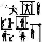 18809621-死刑罰拷問正義実行アイコンのシンボル記号ピクトグラム