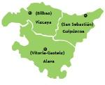 Mapa País Vasco.