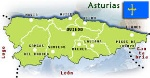 Mapa Asturias.