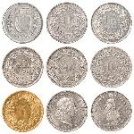 insieme-della-moneta-del-franco-svizzero-58578673