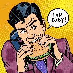 43873515-man-eating-a-burger-and-talking-on-the-phone