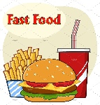 11392-royalty-free-rf-clipart-illustration-fast-food-hamburger-drink-and-french-fries-cartoon-drawing-simple-design-vector-illustration-isolated-on-white-background-with-text-fast-food-