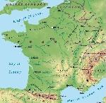 Carta-fisica francia
