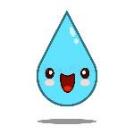 agua-tímida-agradable-del-descenso-de-kawaii-96217630