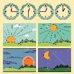 54860045-contras-con-paisajes-que-muestran-el-ciclo-diurno-y-el-reloj-que-muestra-la-hora-del-día-por-la-mañana-me