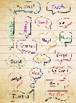 15360817-hand-drawn-colorful-speech-bubbles-on-paper-background-with-interjection-word
