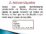 activos liquidos