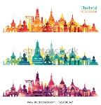 stock-vector-thailand-detailed-skyline-vector-illustration-521888347