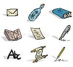 iconos-de-la-comunicación-escrita-