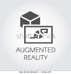stock-vector-black-flat-icon-of-device-virtual-augmented-reality-logo-of-digital-ar-technology-future-theme-650245279