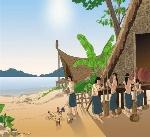 Hình ảnh mô phỏng đời sống của cư dân Văn Lang