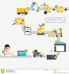 infographics-logístico-sistema-de-blan-logístico-de-los-iconos-planos-del-almacén-61862370