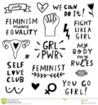 ensemble-d-ic-ne-de-symboles-du-féminisme-de-vecteur-mouvement-de-femenist-89813543