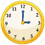 44952935-vuelta-al-reloj-de-color-amarillo-con-azul-ilustración-agujas