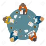 29972144-reunión-gestión-empresarial-oficinistas-estilo-plano-y-de-intercambio-de-ideas-en-la-mesa-redonda-en-la-vi