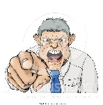 vector-illustration-of-a-mad-boss-pointing-spitting-and-yelling-by-atstockillustration-2223
