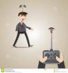 homem-de-negócios-robótico-dos-desenhos-animados-controlado-pelo-chefe-40945957