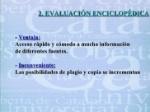 evaluación encilolpédica