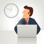 simple-caricatura-de-un-hombre-de-negocios-que-trabaja-en-la-computadora-portatil-400-25591941