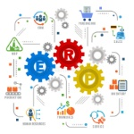 enterprise-resource-planning-erp-module-gear-construction-flow-icon-art-abstract-vector-design-92952882