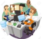 72078417-オフィス-ワーカー-スタートアップ-チーム-ディスカッション企画漫画イラスト