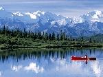 Lake Snow Mountain Wonder Lake Alaska
