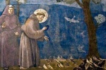 Preaching to the Birds from the life of St. Francis
