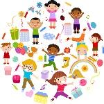playing-children-cartoon-vector-set-48625