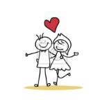 dibujo-a-mano-de-dibujos-animados-felicidad-boda-400-24845410