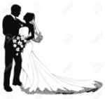 9851543-a-bride-and-groom-on-their-wedding-day-about-to-kiss-in-silhouette