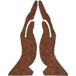 Praying-Hands-Crackle-Brown