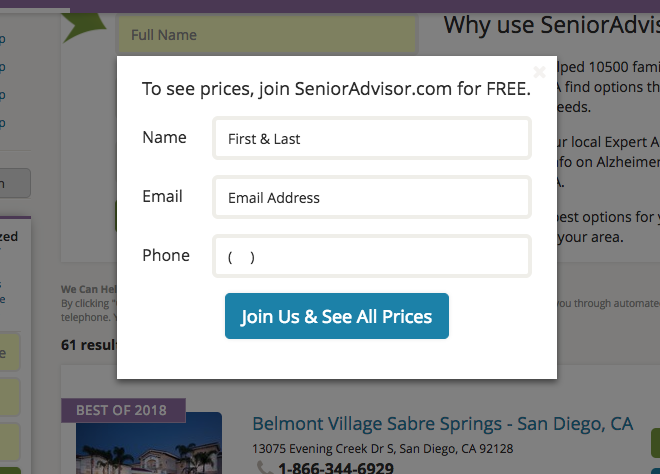 get pricing button