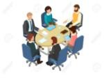 74398370-conversación-en-la-mesa-redonda-en-la-oficina-negocios-concepto-de-inspiración-3d-ilustración-de-vector-isométr