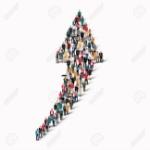 47568575-eine-große-gruppe-von-personen-in-der-form-einer-pfeilrichtung-vektor-illustration