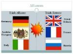 Alliances Triple Alliance Triple Entente Germany Great Britain