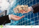 pile-de-remise-mâle-d-argent-liquide-à-la-femme-avec-la-construction-d-entreprise-29213478