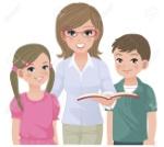 19221587-maestro-de-escuela-joven-y-alumnos-felices-juntos-imágenes-muchacha-y-el-muchacho-están-sin-arrastrarlas