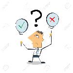 42345338-vector-ilustración-empresario-personaje-de-dibujos-animados-con-globos-con-sí-o-no-hay-señales-de-toma-de-de