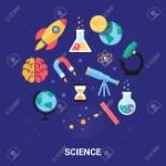 33406599-ilustración-vectorial-ciencia-iconos-planos-astronomía-química-física-matemáticas-biología-sistema-solar-
