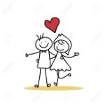 26262337-de-dibujos-animados-de-dibujo-a-mano-felicidad-carácter-boda