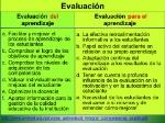 Evaluación+del+aprendizaje+Evaluación+para+el+aprendizaje