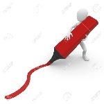12439428-3d-hombre-con-un-marcador-trazar-una-línea-aislada-en-blanco