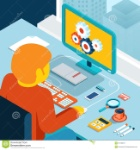 home-workspace-workstation-window-isometric-d-illustration-desktop-freelance-programmer-man-coffee-process-55138813