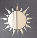 Creativo-3D-acrílico-espejo-superficie-Wall-sticker-DIY-oro-plata-Sol-diseño-Decoración-para-el-hogar