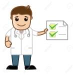 21151106-médico-checklist-consejos-de-salud-personajes-de-dibujos-animados-de-oficina