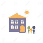 62068683-idea-propia-casa-como-la-felicidad-personal-silueta-de-la-familia-junto-a-la-casa-simple-ilustración-ve
