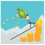 empresario-llevando-un-saco-de-dinero-sobre-personaje-de-dibujos-animados-de-monedas_5541-350