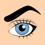 59688517-인간의-파란-눈-만화-스타일