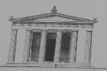 fronte tempio di atena a tegea